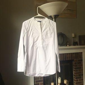 J . Crew Piqué bib shirt